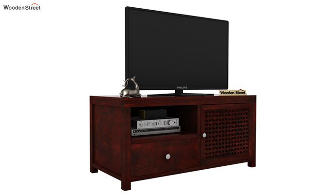Hanson Tv Unit (Mahogany Finish)-1