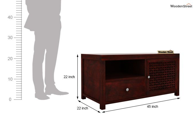 Hanson Tv Unit (Mahogany Finish)-5