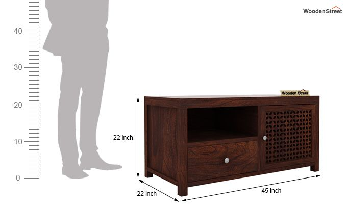Hanson Tv Unit (Walnut Finish)-5