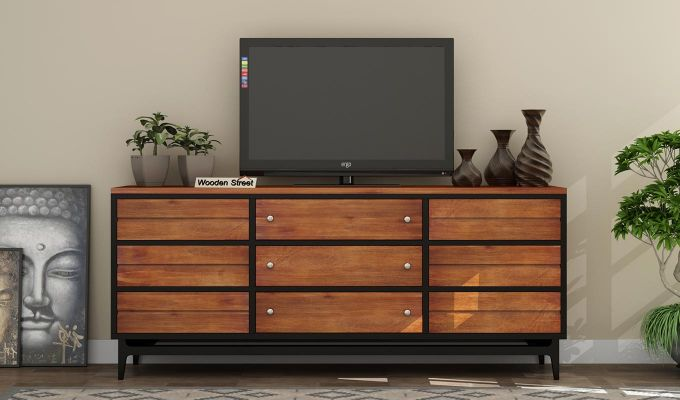 Hedren TV Unit (Teak Finish)-2