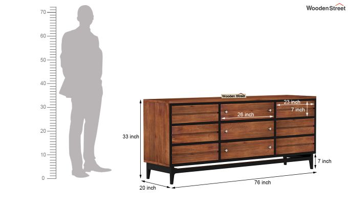 Hedren TV Unit (Teak Finish)-7