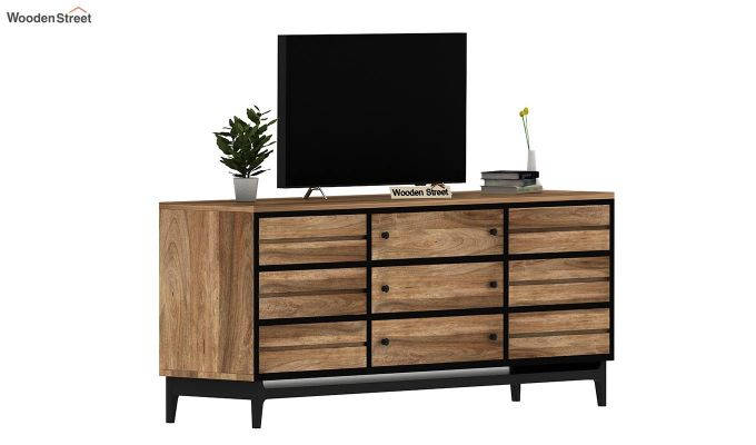 Hedren Loft TV Unit (Natural Finish)-2