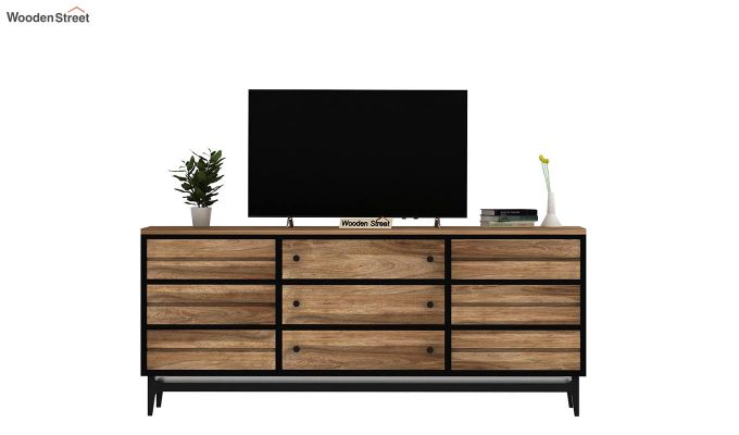 Hedren Loft TV Unit (Natural Finish)-3