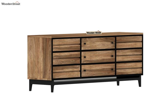 Hedren Loft TV Unit (Natural Finish)-4