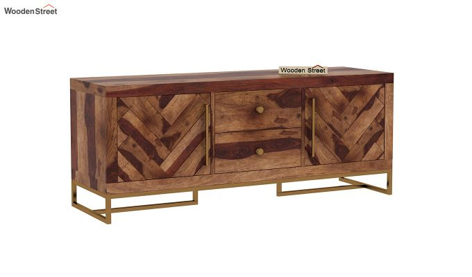 Jett Compact Tv Unit (Teak Finish)-3