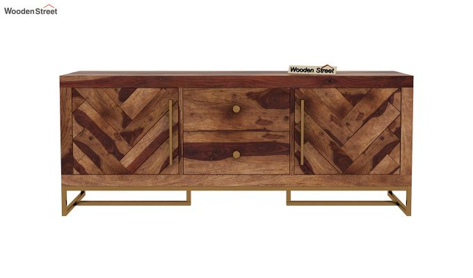 Jett Compact Tv Unit (Teak Finish)-4