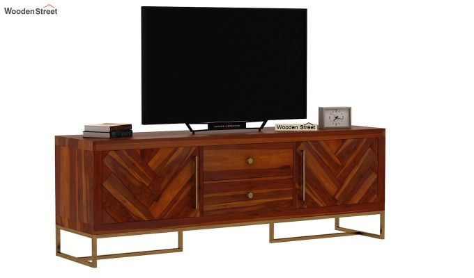 Jett Tv Unit (Honey Finish)-3
