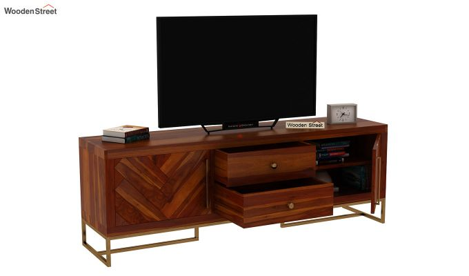 Jett Tv Unit (Honey Finish)-5