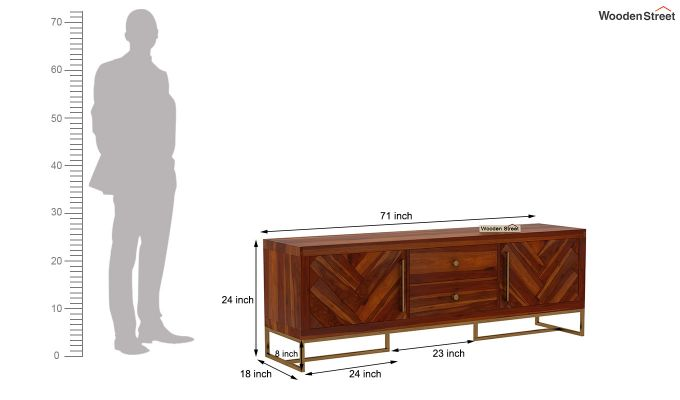 Jett Tv Unit (Honey Finish)-9