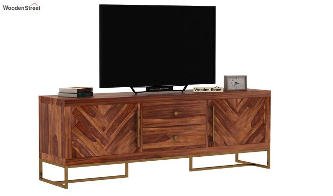Jett Tv Unit (Teak Finish)-3