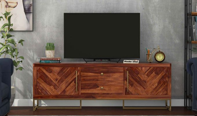 Jett Tv Unit (Teak Finish)-2