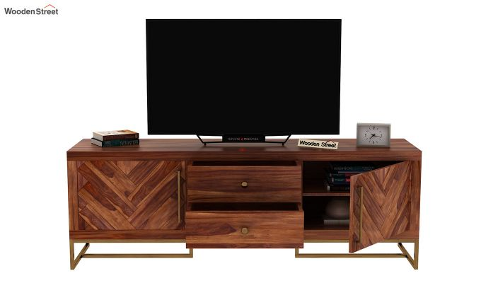 Jett Tv Unit (Teak Finish)-6