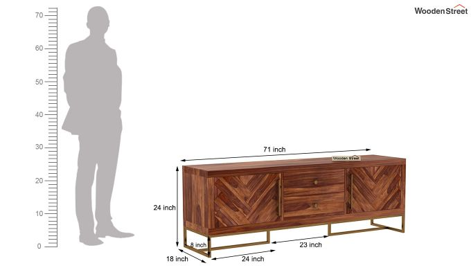 Jett Tv Unit (Teak Finish)-9