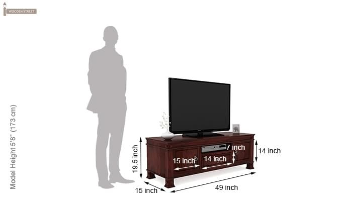 Kingsley Tv Unit (Mahogany Finish)-5