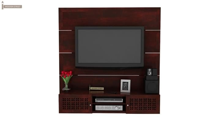 Krackel Wall Mount Tv Unit (Mahogany Finish)-1