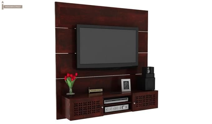 Krackel Wall Mount Tv Unit (Mahogany Finish)-2