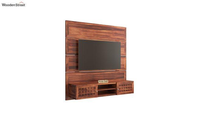 Krackel Wall Mount Tv Unit (Honey Finish)-2