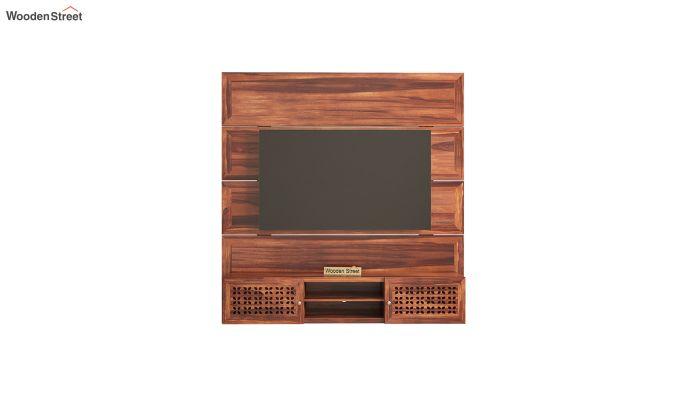 Krackel Wall Mount Tv Unit (Honey Finish)-3