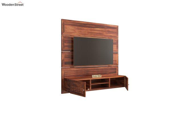 Krackel Wall Mount Tv Unit (Honey Finish)-4