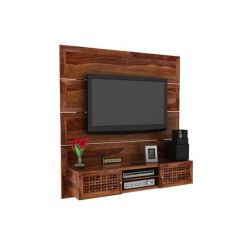 Krackel Wall Mount Tv Unit (Teak Finish)
