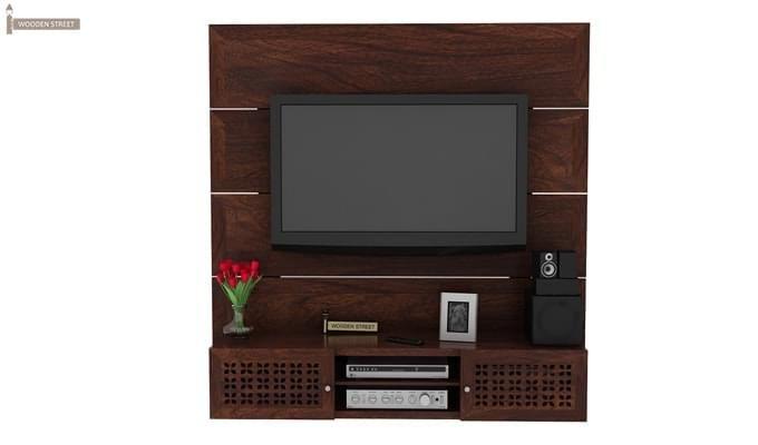 Krackel Wall Mount Tv Unit (Walnut Finish)-1