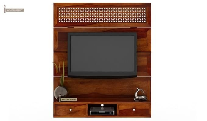 Kristen Wall Mount Tv Unit (Honey Finish)-2