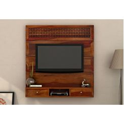 Kristen Wall Mount Tv Unit (Honey Finish)