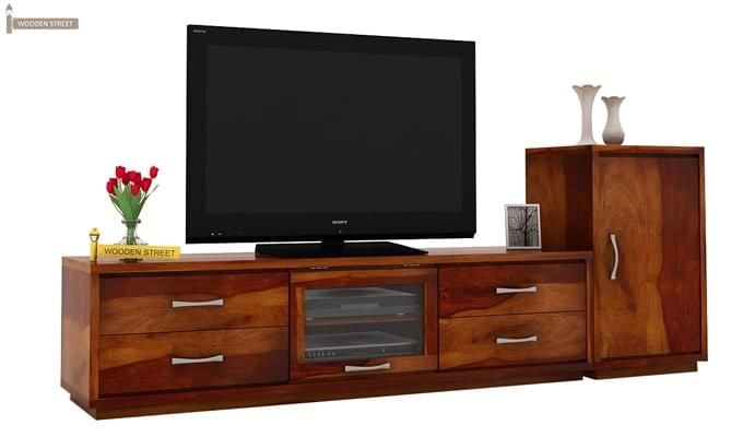 Lenora Tv Unit (Honey Finish)-1