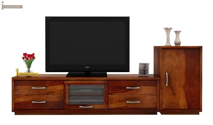Lenora Tv Unit (Honey Finish)-2
