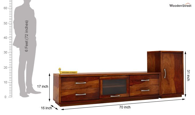 Lenora Tv Unit (Honey Finish)-3