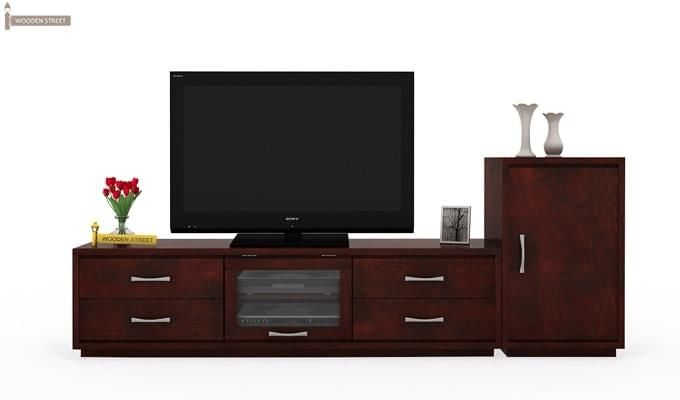 Lenora Tv Unit (Mahogany Finish)-2