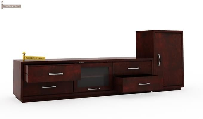 Lenora Tv Unit (Mahogany Finish)-3