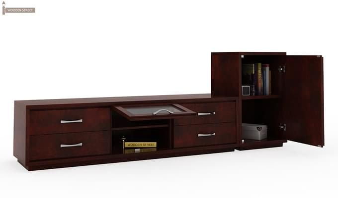 Lenora Tv Unit (Mahogany Finish)-5