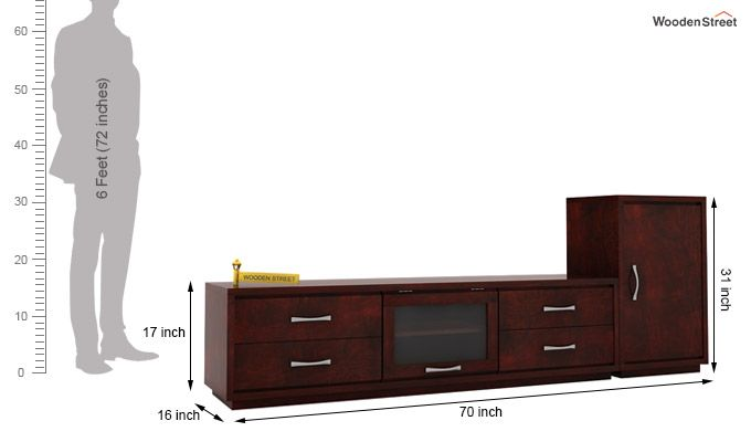 Lenora Tv Unit (Mahogany Finish)-6