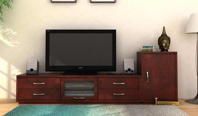 Lenora Tv Unit (Mahogany Finish)-1