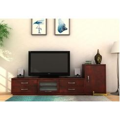 Lenora Tv Unit (Mahogany Finish)