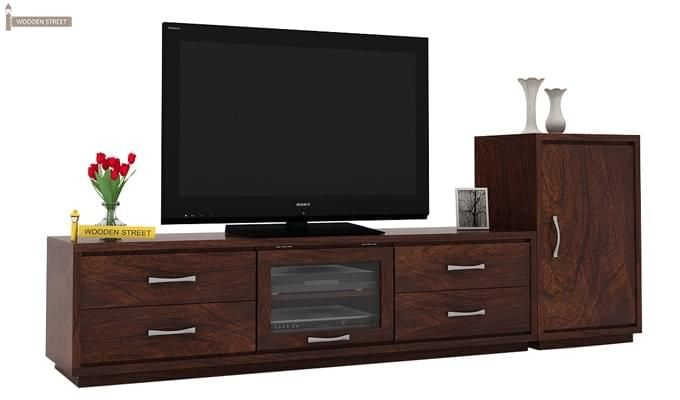 Lenora Tv Unit (Walnut Finish)-1
