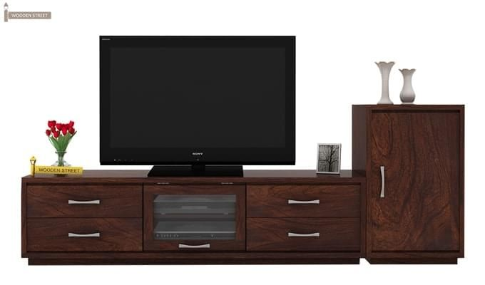 Lenora Tv Unit (Walnut Finish)-2