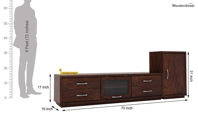 Lenora Tv Unit (Walnut Finish)-3