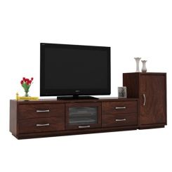 Lenora Tv Unit (Walnut Finish)