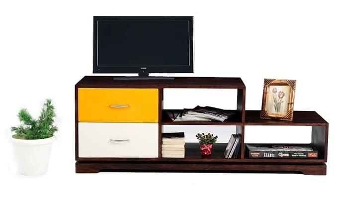 Lesly Tv Unit (Mahogany Finish)-1