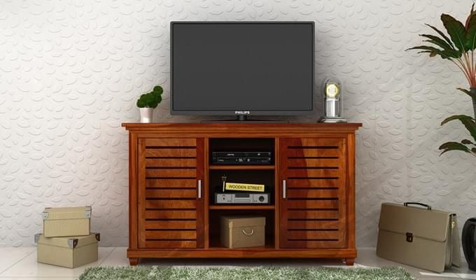 Lynet Tv Unit (Honey Finish)-1