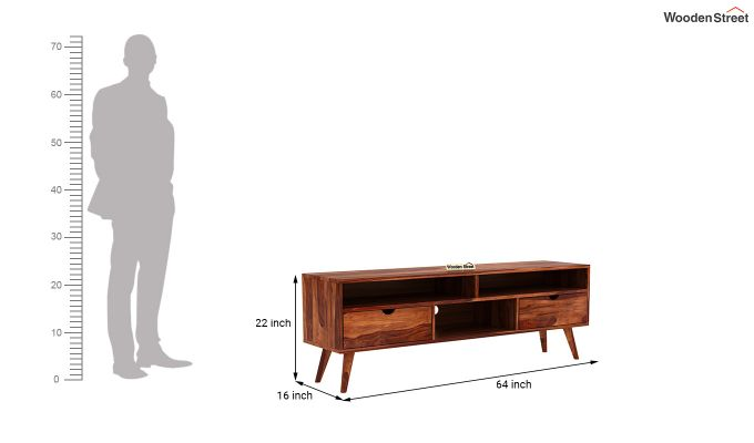 Lynton Large Tv Unit (Honey Finish)-5
