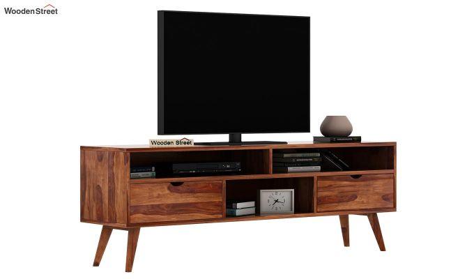 Lynton Large Tv Unit (Teak Finish)-2