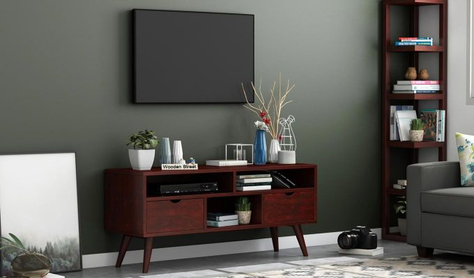 Lynton Small Tv Unit (Mahogany Finish)-1