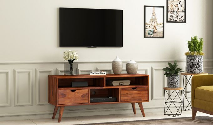Lynton Small Tv Unit (Honey Finish)-1