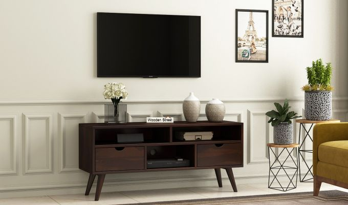 Lynton Small Tv Unit (Walnut Finish)-1