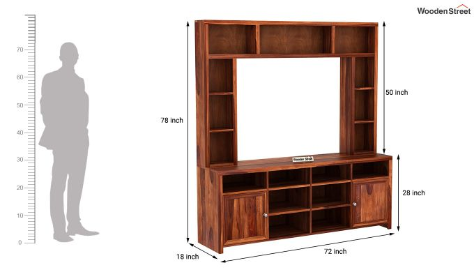 Magnum Tv Unit (Honey Finish)-7