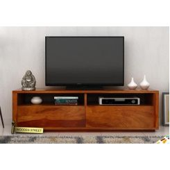 Marron Tv Unit (Honey Finish)