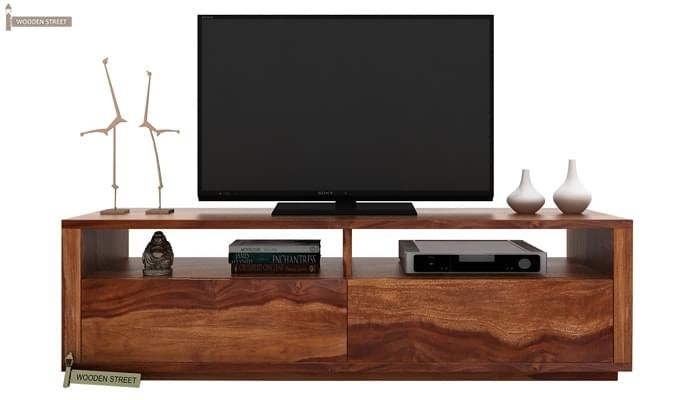 Marron Tv Unit (Teak Finish)-1